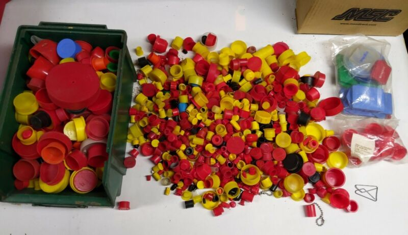 Box Lot 750+ Plastic Caps and some Plugs
