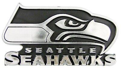 Silber Farbe Chrom Raised Gestanzt Auto Emblem Aufkleber (Seahawks Auto)