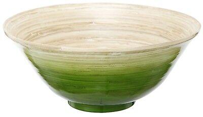 Tan Bambus (Green & Tan Ombre Bamboo Bowl Home Decor Accent 11.75