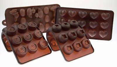 2er Set Pralinenform Silikon-Hasen Eier Enten / Herzen -Silikon Schokoladenform (Ente Kuchen-form)