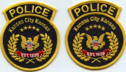 KANSAS CITY KANSAS KS 2 Police Patches POLICE PATCH