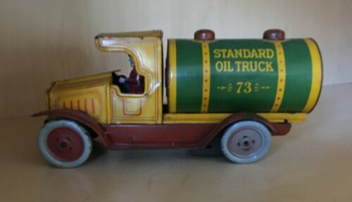 Strauss Company Antique Tin Wind-up Standard Oil Truck #73