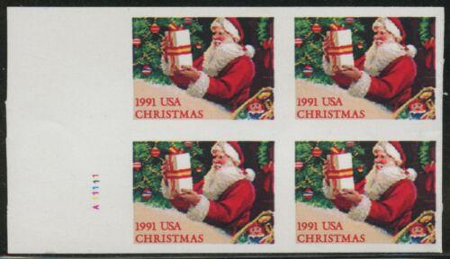 "#2583a Var ""santa Claus"" Imperf Pane Major Error (pw) Bm4422"