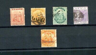 Nevis  Queen Victoria  Issues  (5)      (Jy791)