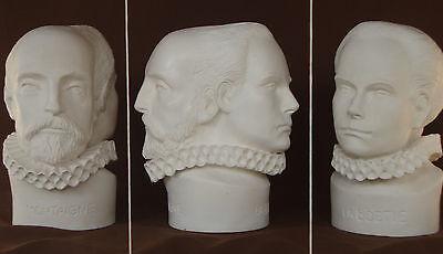 Sculpture Buste Montaigne et La Boétie plâtre