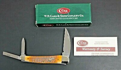 2004 Case Knife Whittler Seahorse Autumn Handle 6355WH SS Never Used NOS In Box