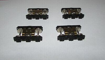 HO passenger car trucks. 2 pair, 6 wheel, die cast. Short wheel base unused. -