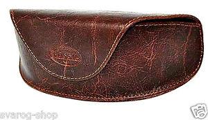 Original FOSSIL Vintage Etui Brillenetui Kunstleder Braun Sonnenbrille Tasche