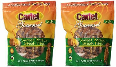 Cadet Gourmet Sweet Potato Steak Fries 4lb Bag Chews Natural Dog Treats - 2 Sweet Potato