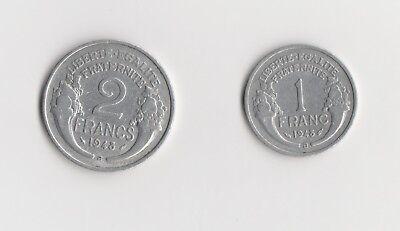 """1   Franc    /   2 Francs Frankreich """"B""""  1948  (1686)"""