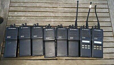 Lot Of 8 Motorola Mts2000 Flashport Handie-talkie Radio And 11 Extra Batteries