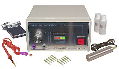 Electrolysis system permanent hair removal professional + accessories blend kit-