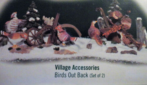 Dept 56 Birds Out Back Village Accessories Set of 2 NEW