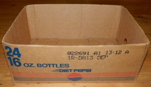 Vintage Cardboard 1991 Diet Pepsi Box Case