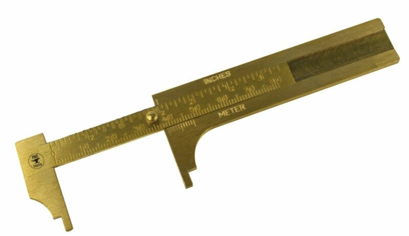 "3"" 80 MM Solid Brass Vernier Gauge Jewelry Stone Measuring Inches Millimeters"