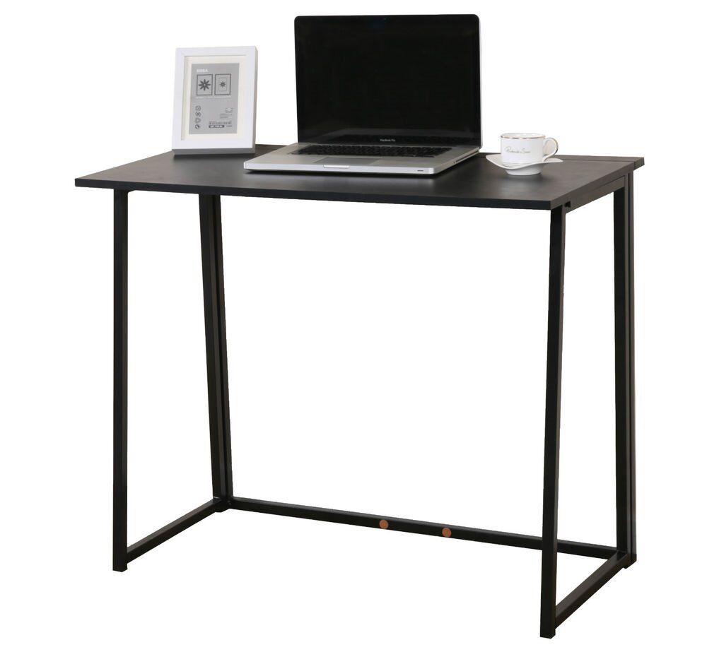 Cherrytree Furniture Compact Flip Flop Folding Computer Office Desk Laptop Table