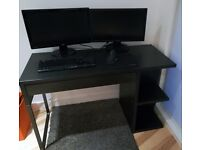 Black desk with drawer
