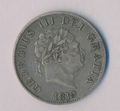 Great Britain 1819 George III Silver Half Crown S-3789 VF