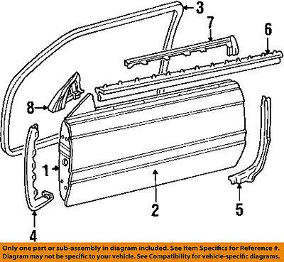 Cadillac GM OEM 94-02 Eldorado-Door Weatherstrip Seal Right 25689634