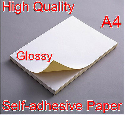 A4 White Glossy Self-adhesive Sticker Sticky Back Label Printing Paper Laser