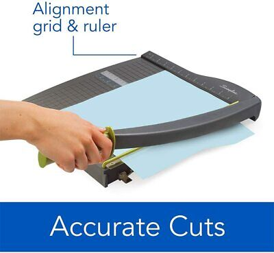 Paper Trimmer Cutter 12 Cut Length With 10 Sheet Capacity Guillotine Blade New
