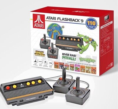 BRAND NEW ATARI FLASHBACK 9,110 GAMES,WIRED GAME CONTROLLERS,720P HD OUTPUT,