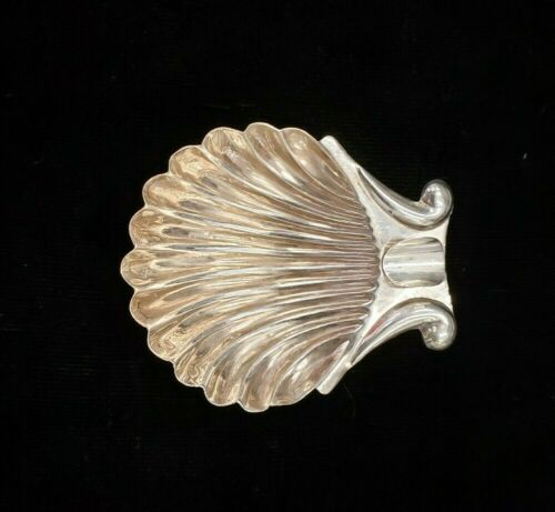 Vintage Sterling Silver 925 Cigarette  Ash Tray Holder Oyster Shell Style