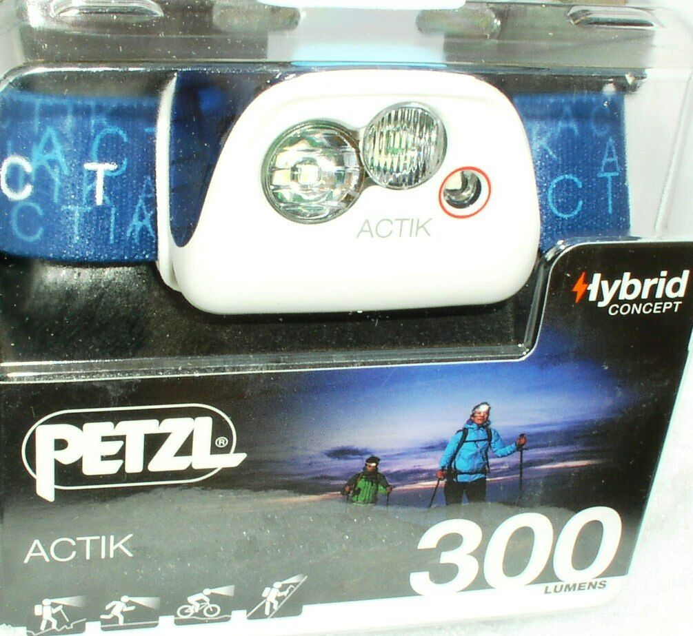 Petzl Actik - Aktive Stirnlampe in BLUE - 300 Lumen, Kopflampe, Headlight