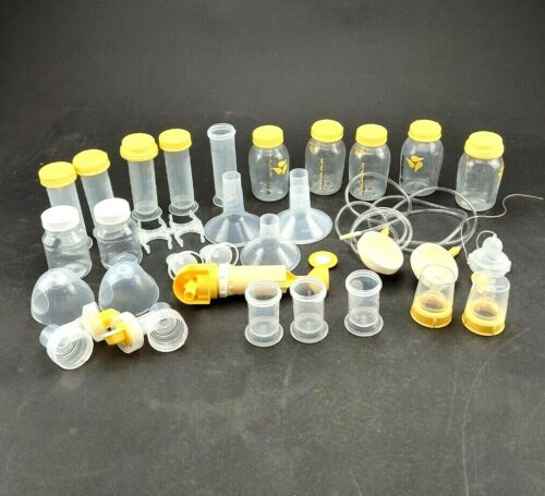 Medela Electric Breast Pump Accessories Only Bottles Etc Various Sized Used Cndt