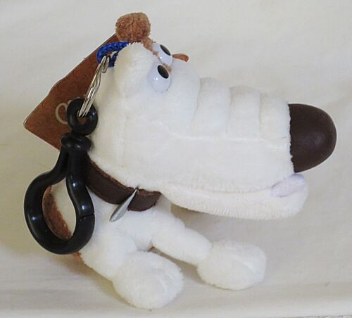 Wallace & Gromit Curse of the Were-Rabbit Preston the Dog Plush Clip-On-NWT
