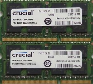 Crucial-ram-8GB-kit-DDR3-PC3-10600-1333MHz-for-latest-2010-2011-Apple-iMacs