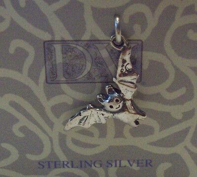 Sterling Silver 3d 24x13mm Halloween Vampire Bat Charm