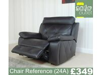 Designer Brown Leather chair (24A) £349