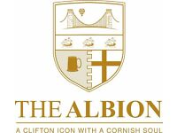 Assistant Manager/Supervisor & Bar Staff-The Albion in Clifton Village