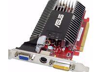 ASUS EAH3450 Dual DVI VGA TV OUT PCI-E Express video graphic display card £12