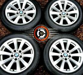 "17""Genuine BMW 5 Series alloys Trafic Vivaro good cond excellent Bridgestone runflats."