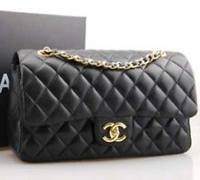 Quilted-black-lambskin-leather-double-flap-bag Haymarket Inner Sydney Preview
