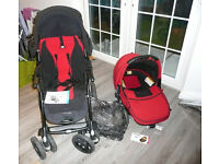 Jane 'Nomad' pushchair with matching adaptable baby seat for pram and car, with pram cosy