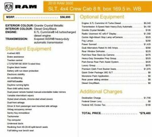 2018 Ram 3500 New Car SLT|4x4|Diesel|Crew/8Box|Snow,LuxuryPkgs|S