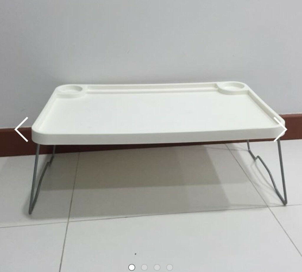 Ikea WHITE Plastic Breakfast Bed Tray Foldable Central London