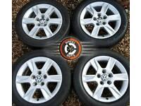 "16"" Genuine alloys VW Caddy Golf Seat Skoda Audi, good cond, good tyres."