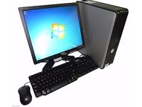 Complete PC system : 4Gb memory, 3D graphics, 500Gb hard disk. Windows 10 installed.