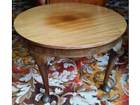 Round side table, solid wood