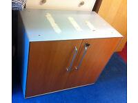 solid metal office cupboard with wooden door