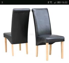 Leather dining room chair (6)
