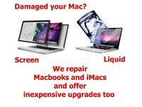 Apple Macbook Repairs - including liquid and impact damage.