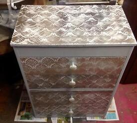 Unique upcycled chest of drawers/dressing table