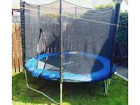 8 foot Plum trampoline with enclosure.