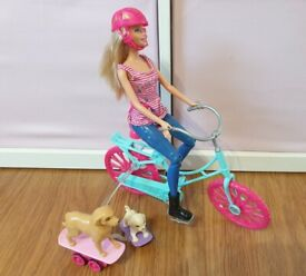 Barbie The Great Puppy Set in Excellent Condition Bike Pups Playset Girls Toys Bundle Set Dogs
