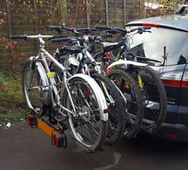Pendle four bike wheel support cycle rack